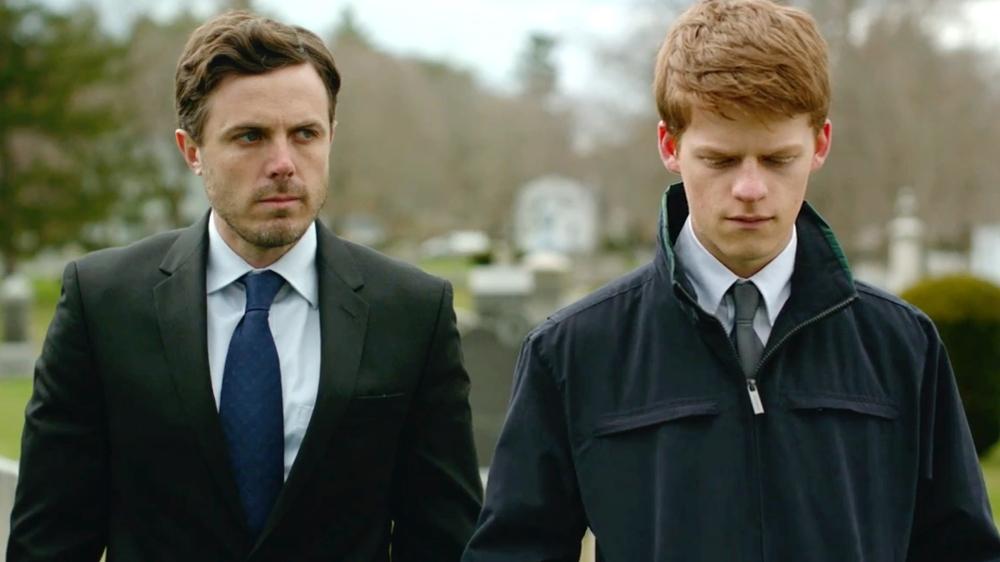 "Casey Affleck y Lucas Hedges en ""Manchester by the sea"""
